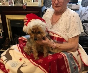 Edith-Davies-and-santa-dog-2