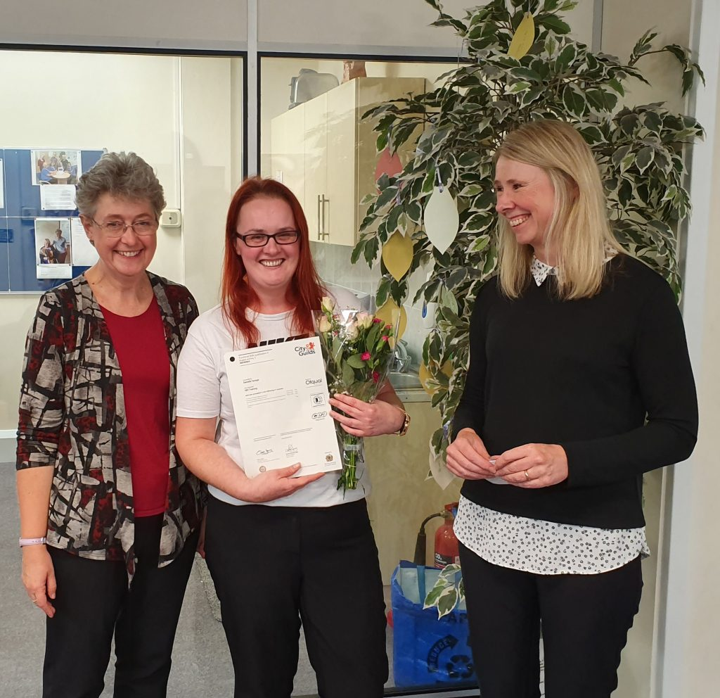 Dani Savage receives her qualification in English