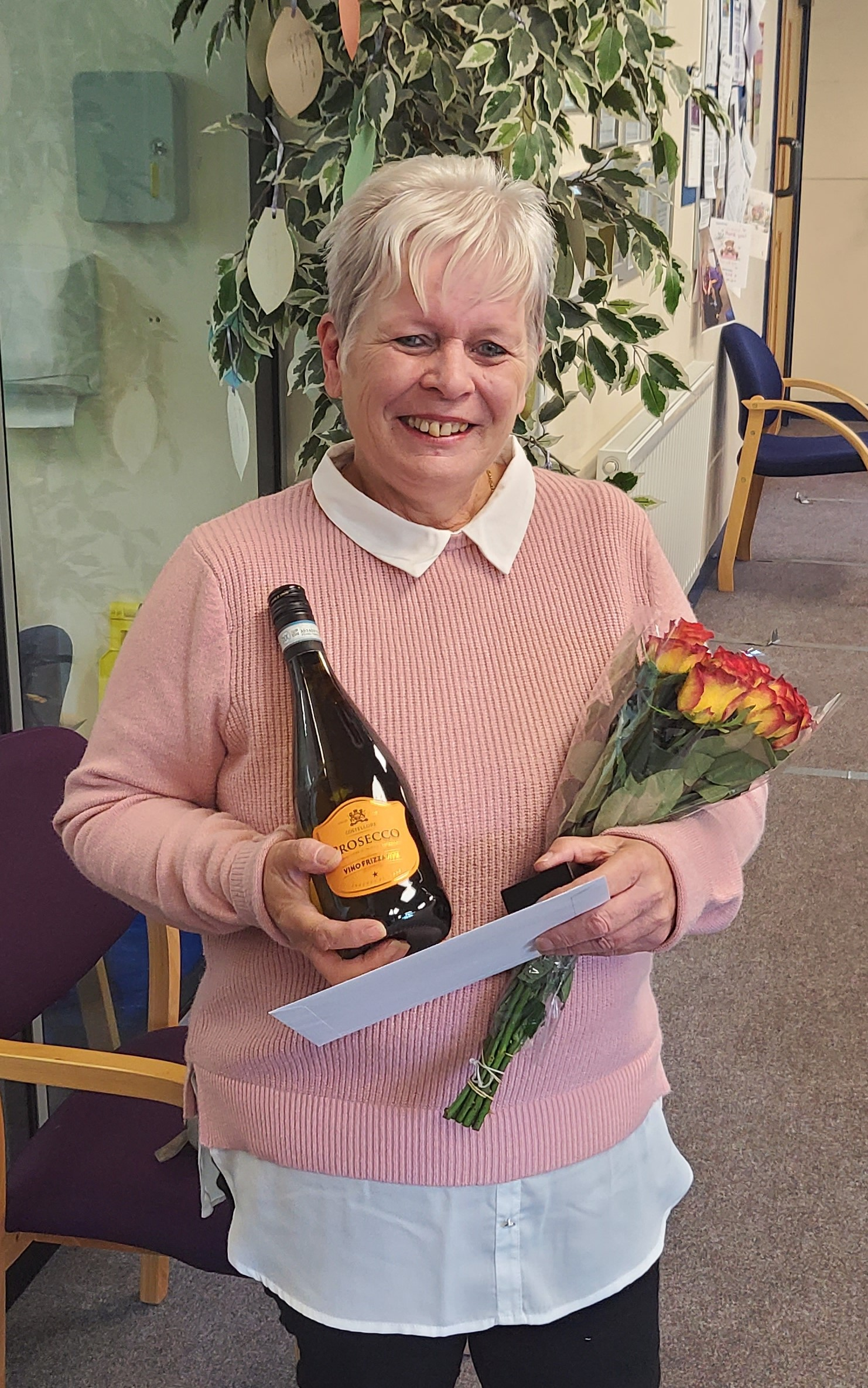 Long service award for Jackie Williams