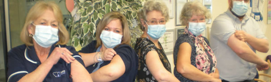 Staff at Supreme Home Care vaccination ready!